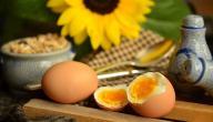 عدد السعرات الحرارية في البيض المسلوق