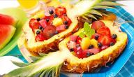 طريقة تزيين الفواكه