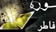 سبب تسمية سورة فاطر
