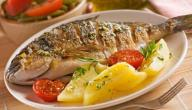 طريقة شوي السمك بالزيت والليمون
