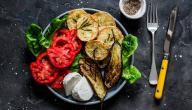 طريقة سلطة الباذنجان والبطاطس