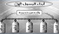 ما اسم أبناء الرسول محمد عليه السلام