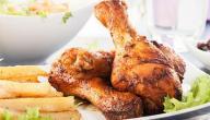 طريقة قلي الدجاج بعد السلق
