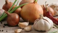 ما هي فوائد الثوم والبصل