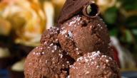 كيفية عمل آيس كريم بالشوكولاتة
