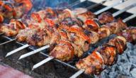 طريقة اللحم المشوي على الفحم
