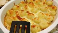 طريقة عمل صينية كرات البطاطس بالدجاج