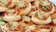 عمل فطائر البيتزا
