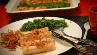 أطباق عشاء للضيوف