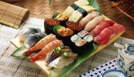 مكونات أكلة السوشي