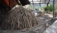 كيف يصنع الفحم الخشبي