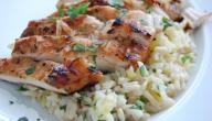 طريقة عمل أرز ودجاج بالفرن