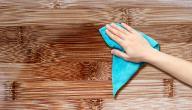 كيف أنظف الخشب