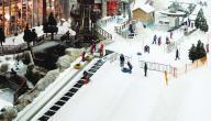 أين تقع مدينة الثلج في دبي