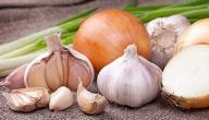 فوائد البصل والثوم للشعر المتساقط
