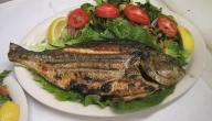 طبق سمك مشوي