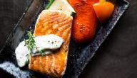 طريقة عمل سمك سلمون بالفرن