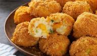 طريقة عمل صينية كرات البطاطا بالجبن