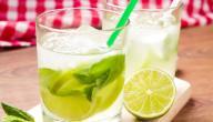 طريقة عمل عصير الليمون والزنجبيل