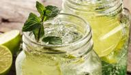 صنع عصير الليمون بالنعناع