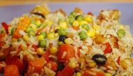 طريقة عمل صينية الأرز بالخضار