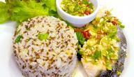 طريقة السمك مع الأرز