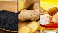 فوائد العسل والزنجبيل والحبة السوداء
