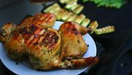 طريقة تتبيلة الدجاج المشوي في الفرن
