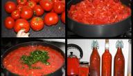 كيفية عمل صلصة الطماطم وتخزينها