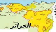 مدن الجزائر على الخريطة