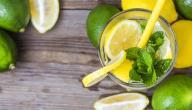 كيفية صنع عصير الليمون بالنعناع