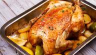 طريقة شوي الدجاج المحشي