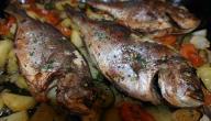 تحضير السمك في الفرن