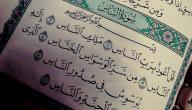 آخر سورة في القرآن