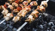 أكلات مشوية على الفحم