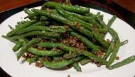 أطباق لوبيا خضراء في الفرن