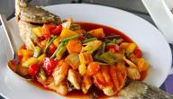 أطباق سمك بالفرن