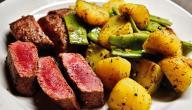 أكلات بشرائح اللحم