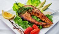 طريقة طبخ سمك السلمون المقلي