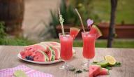 طريقة عصير البطيخ الأحمر