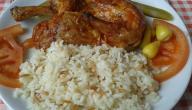 طريقة عمل أرز على دجاج لبناني