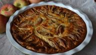 طريقة عمل كيكة التفاح المقلوبة