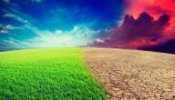 تعريف تغير المناخ