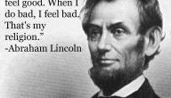 أقوال أبراهام لنكولن