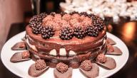 طريقة عمل تغليفة الكيك بالشوكولاتة