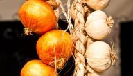 طريقة تجفيف الثوم والبصل