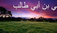 متى توفي علي بن أبي طالب