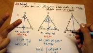 طريقة حساب مساحة المثلث