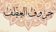 حروف العطف في اللغة العربية