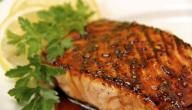 طريقة قلي سمك السلمون